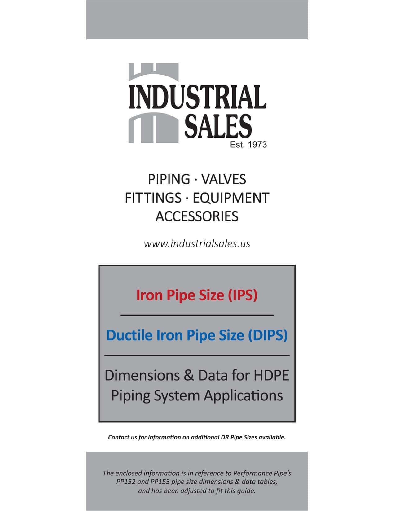 Pipe Size & Dimension Data
